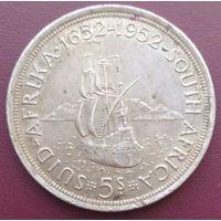 Южная Африка 5 шиллинга 1952, серебро