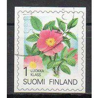Флора Цветы Финляндия 1994 год серия из 1 б/з марки