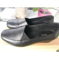 Туфли кожаные женские черные 38-37 размер