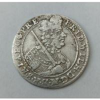 Орт. серебро. 18 грошей  1685 г.  Германия Польша Пруссия  СОСТОЯНИЕ !!!
