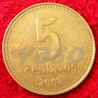 7191:  5 сентаво 2008 Аргентина