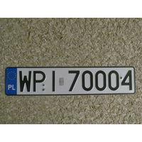 Автомобильный номер Польша WPI70004