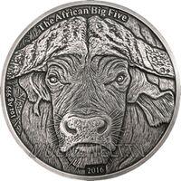 "Буркина-Фасо 1000 франков 2016г. ""Буйвол"". Монета в капсуле; подарочном футляре; номерной сертификат; коробка. СЕРЕБРО 31,10гр.(1 oz)."