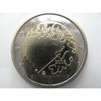 Финляндия 2 евро 2016 г. 90 лет со дня смерти Эйно Лейно. (юбилейная) UNC!