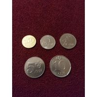 Киргизия набор монет 2008-09 г.