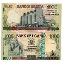 Уганда 1000 шиллингов образца 2009 года UNC p43c