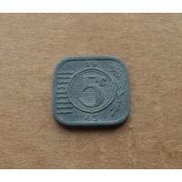 Нидерланды (нацистская оккупация), 5 центов 1943 г.