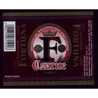 Этикетка Пиво Фортуна чёрное