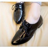 Женские туфли на шнуровке натуральная кожа