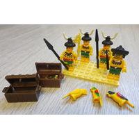 Лего. Brick. Cobi и др...человечки-туземцы с сундуками и др...