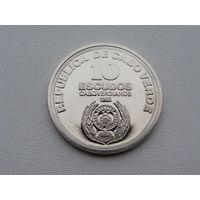 "Кабо-Верде. 10 эскудо 1985 год KM#24  ""10-летие независимости"""