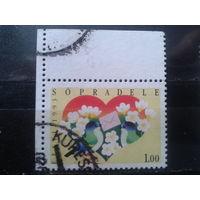Эстония 1993 Валентинов день, марка из буклета