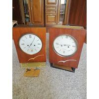 Часы Янтарь, настенные с боем , двое часов одним лотом.