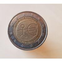 2 евро Франция 2009 10 лет Экономическому и Валютному союзу