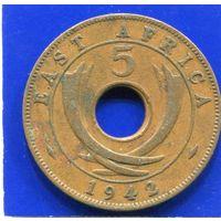 Британская Восточная Африка 5 центов 1942