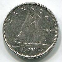КАНАДА - 10 ЦЕНТОВ 1964