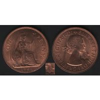 Великобритания _km897 1 пенни 1966 год (обращ) (массоновское клеймо) (h01)