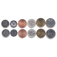 Ливан набор монет 1996-2012г UNC