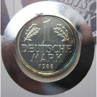 Германия, марка, 1988 J монета-письмо