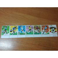 Парагвай 1980. Футбол. Полная серия. Сцепка + 2 марки