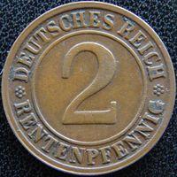YS: Германия, 2 рентенпфеннига 1923D, KM# 31 (2)