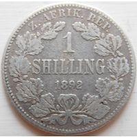 10. ЗАР 1 шиллинг 1892 год, серебро.