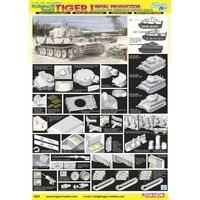Танк Tiger I Initial Production s.Pz.Abt.502 (Leningrad Region 1942/43), сборная модель 1/35 Dragon 6660