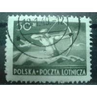Польша 1948 Авиапочта, кентавр 50 зл