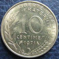 1k Франция 10 сантимов 1971 распродажа коллекции