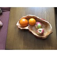 Ваза для фруктов деревянная. Сувель березы Ручная работа