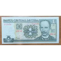 1 песо 2016 года - Куба - UNC