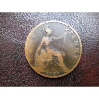 1 пенни 1901 г.