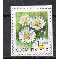 Флора Цветы Финляндия 1995 год серия из 1 б/з марки