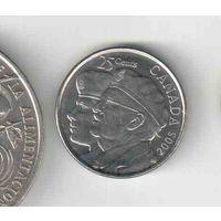 25 центов Канады 2005 года
