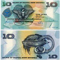 Папуа-Новая Гвинея. 10 кина (образца 1998 года, P17, UNC)