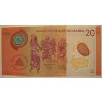 Никарагуа 20 кордоба 2014 г. Полимерная