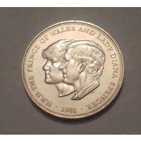 25 пенсов, (1 крона) Великобритания 1981 г.