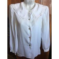 Блуза блузка белая 44 как новая РАСПРОДАЖА