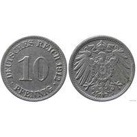 YS: Германия, Рейх, 10 пфеннигов 1912A, KM# 12 (2)