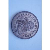 Доллар США  1800 , старая копия, 37 мм, не Китай