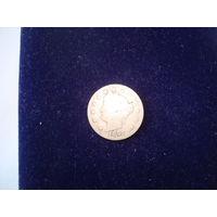Монета 5 центов США, 1900 г.