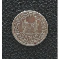 25 центов Суринам 2009 года