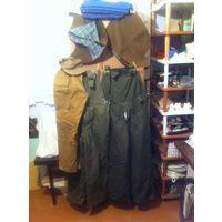 Комбинезон рыбацкий 2 шт.с утеплённые отстёгивающемися подкладками , штаны и кепи Афганки , халаты рабочие Ж 4 шт., капюшоны военные 2 шт.