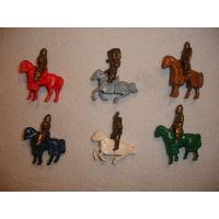 Киндер металл полная серия Всадники на конях