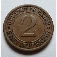 Германия 2 рентенпфеннига 1923 г