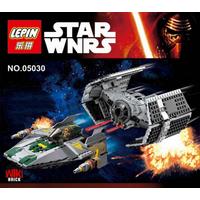 Усовершенствованный истребитель Дарта Вейдера TIE и A-Wing Lepin 05030, аналог Lego 75150