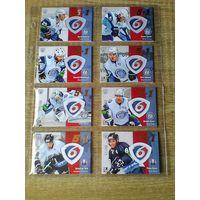 12 карточек 6 сезона КХЛ одним лотом.