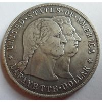 США 1 доллар 1900 года. Лафайет. Отличная копия редкой монеты. Серебрение.