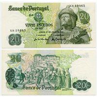Португалия. 20 эскудо (образца 1971 года, P173, подпись 2, aUNC)