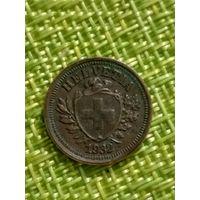 Швейцария 1 раппен 1932 г ( состояние )